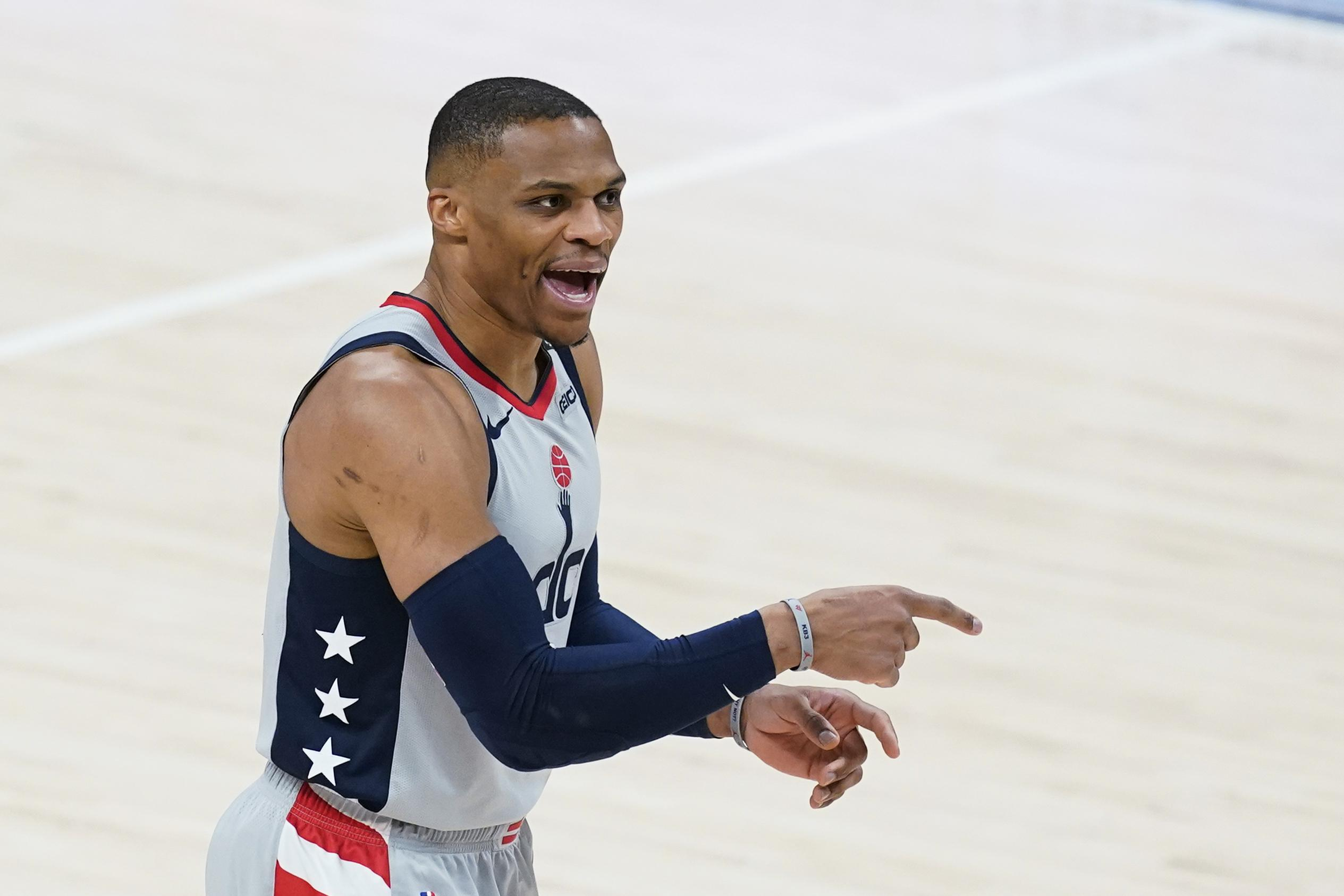 Westbrook basks in milestone moment of tying Big O's record