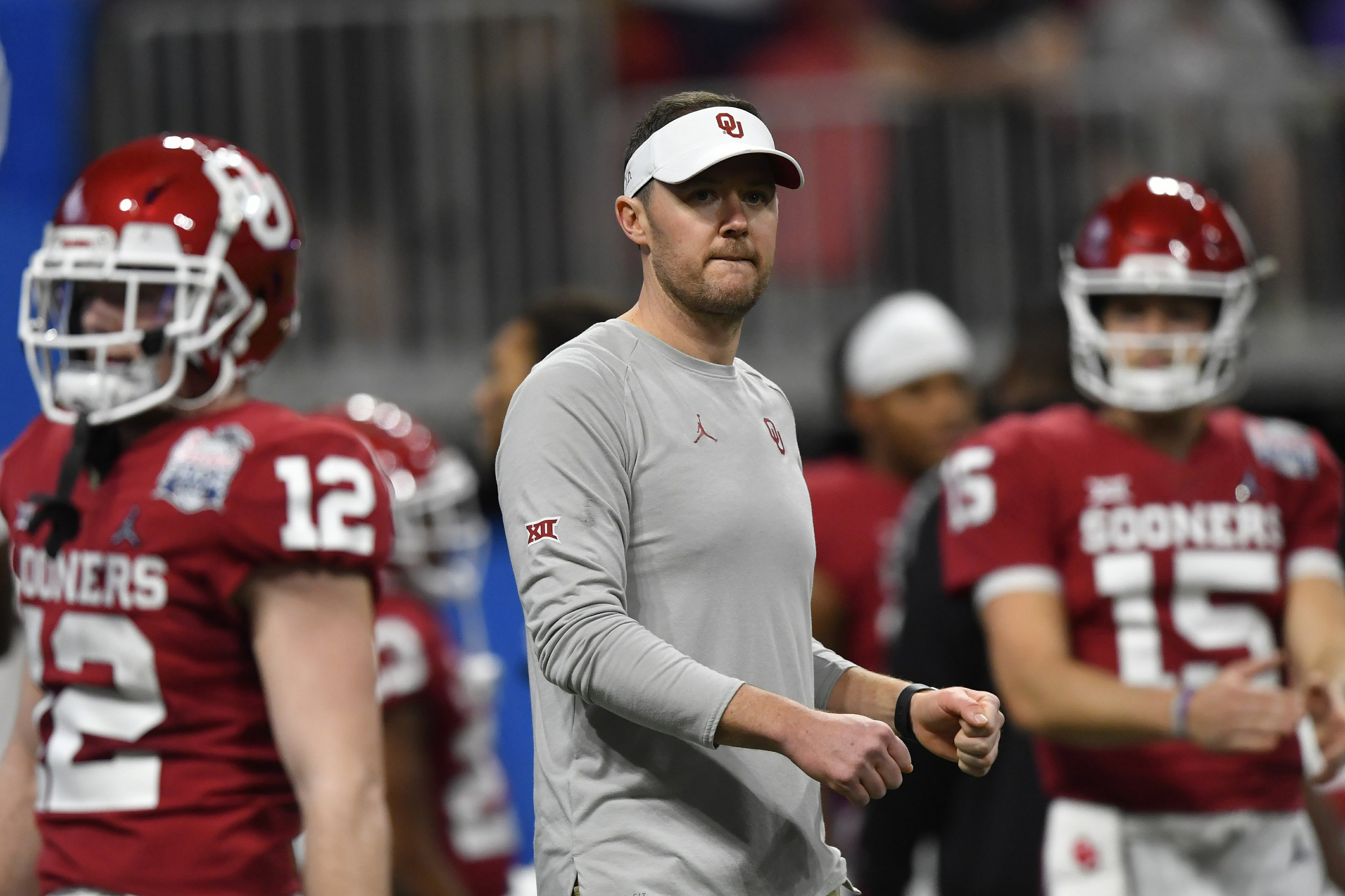 Oklahoma coach Riley now pulling top QBs from prep ranks