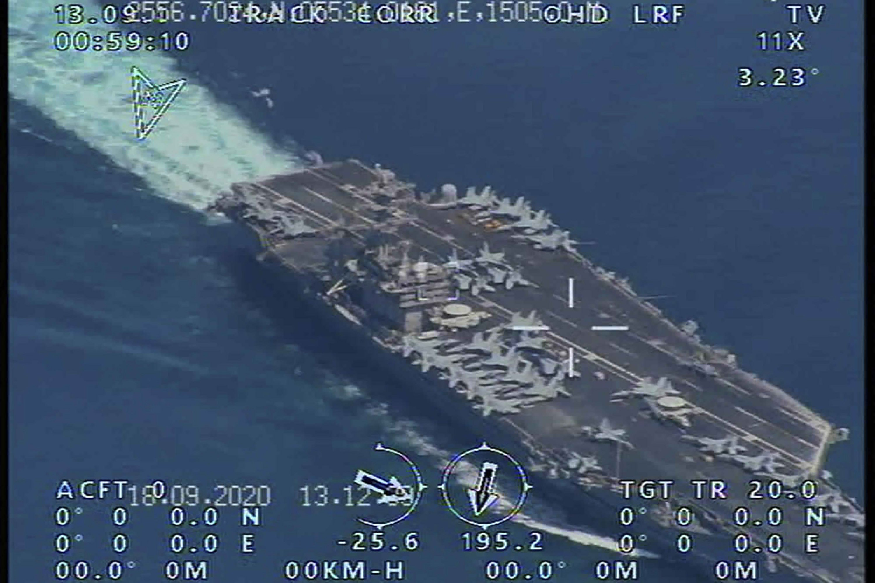 Report: Iran's Guard flew surveillance drone over USS Nimitz