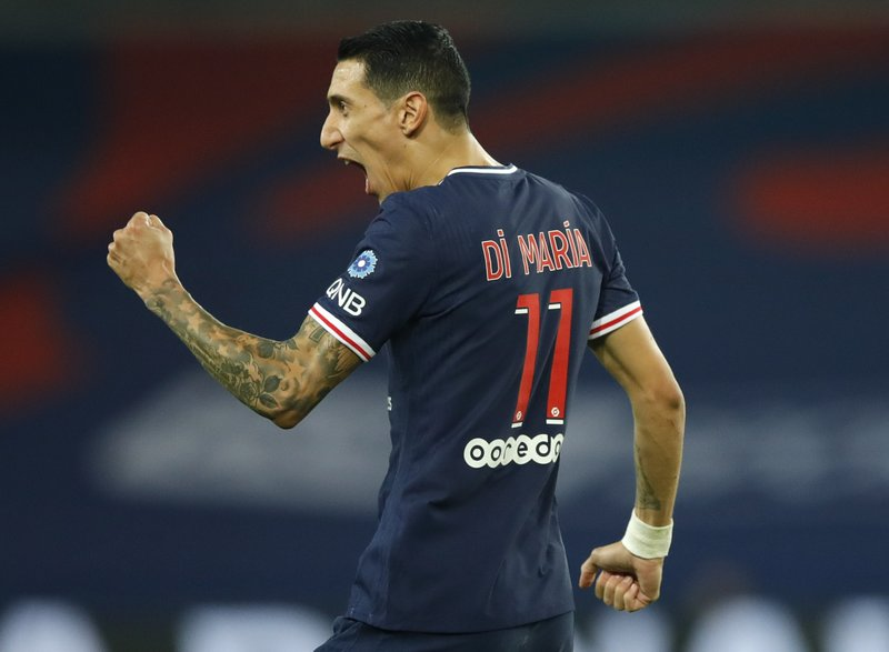 Injury-hit PSG wins 8th straight league game, Di Maria brace