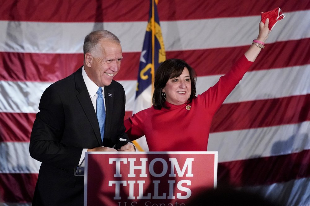 Democrat Cal Cunningham concedes to incumbent Republican US Sen. Thom Tillis in North Carolina