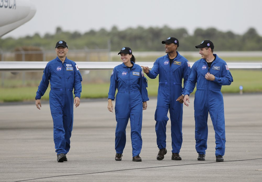 2nd SpaceX crew flight prepares for take-off as astronauts arrive at launch site