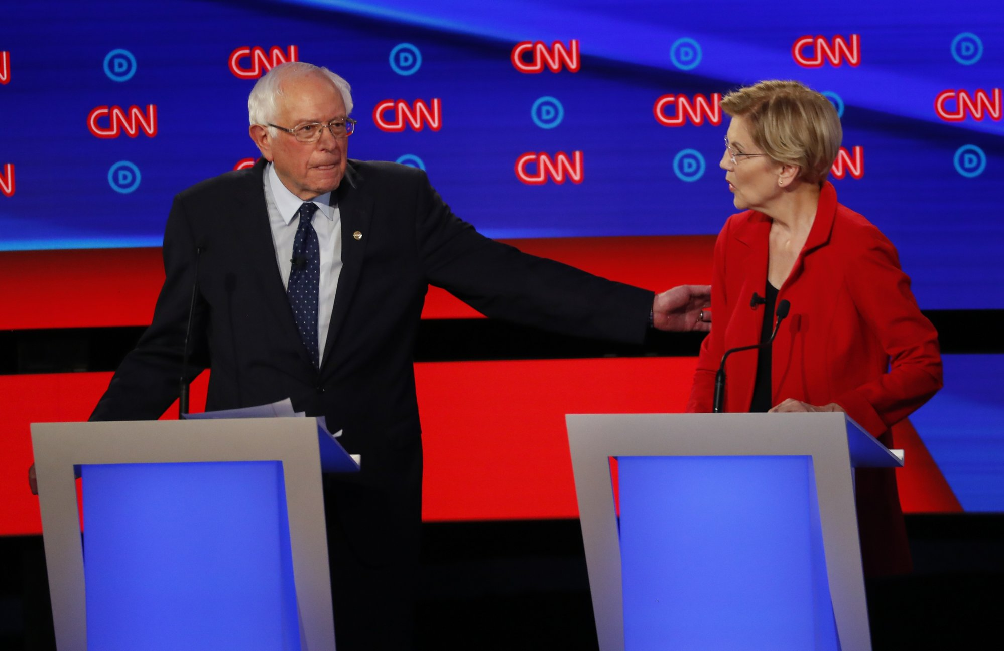 Sanders, Warren clash with moderates over 'Medicare for All'