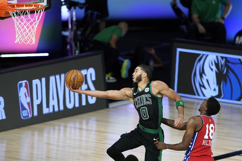 Jayson Tatum and Jaylen Brown lead Celtics past 76ers in Game 1: 109-101