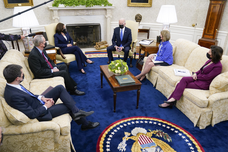 Biden, GOP senators upbeat, plan more infrastructure talks