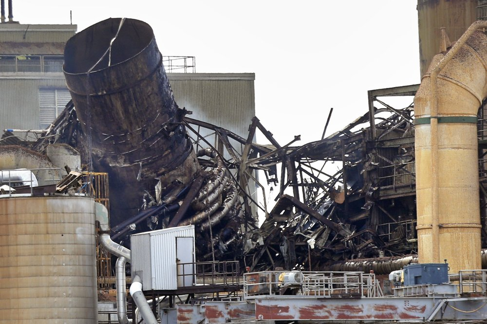 Explosion damages paper mill but no one hurt