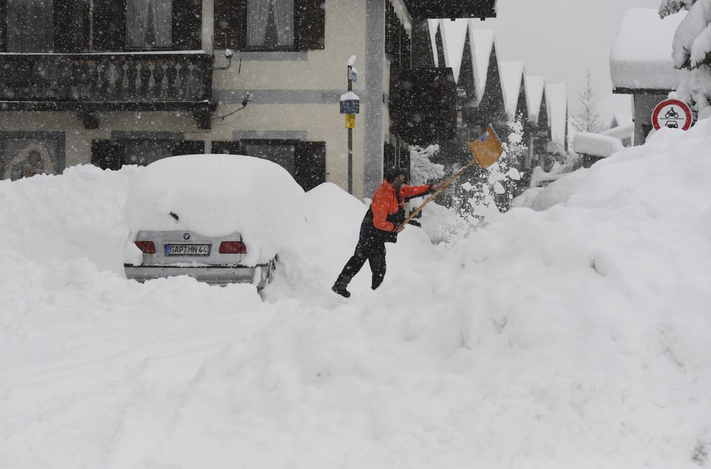 Extreme cold brings freezing temps to Europe causing traffic chaos, smog, avalanche