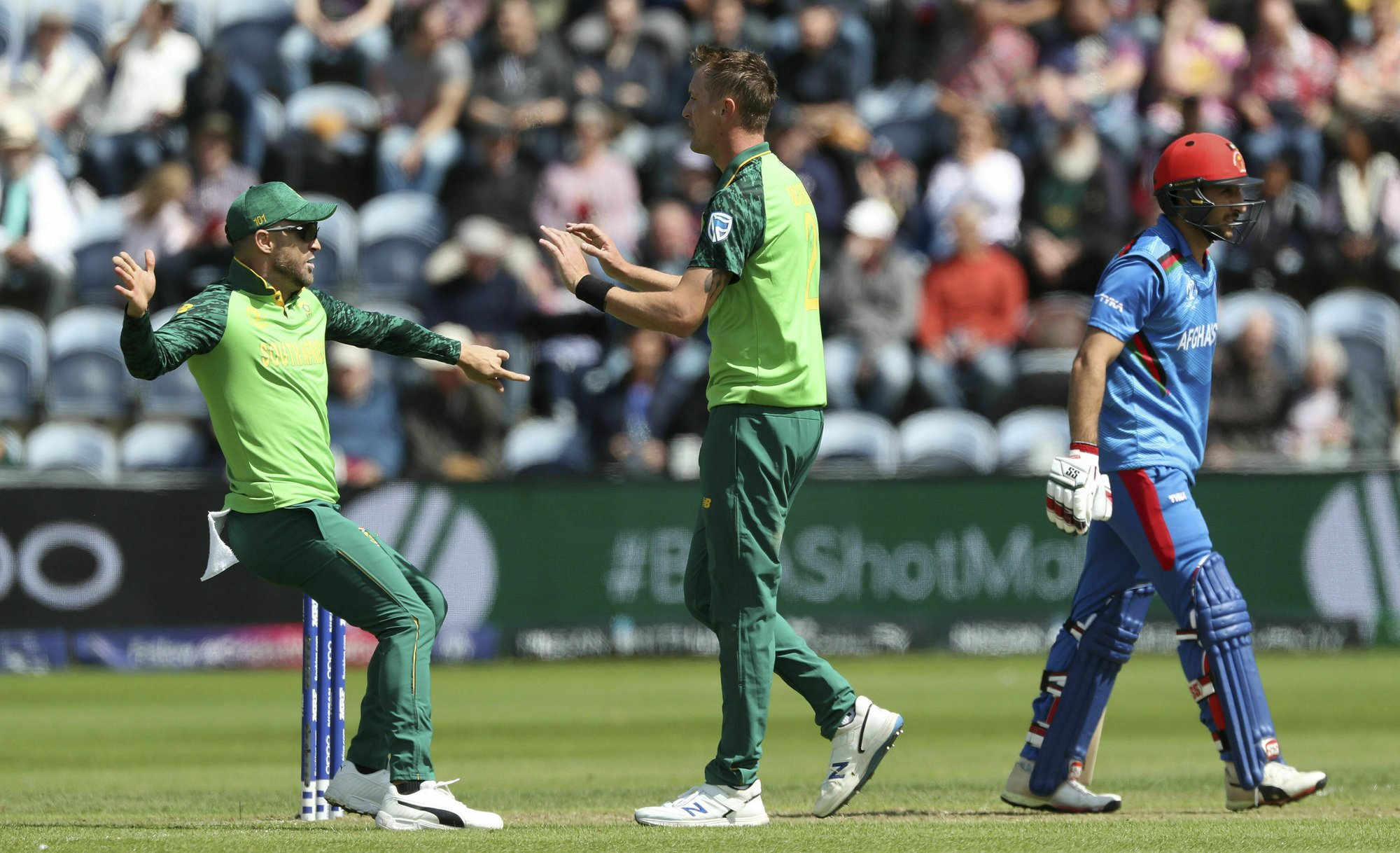 The Latest: South Africa beats Afghanistan by 9 wickets