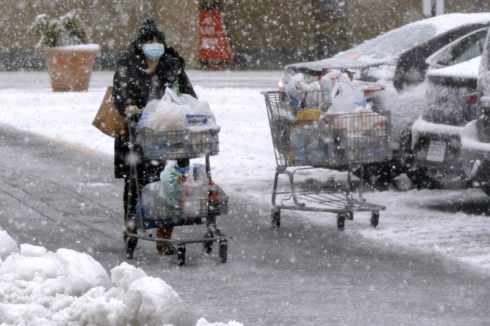 Lights go out, roads dicey as wintry storm batters Northeast leaving heavy snow