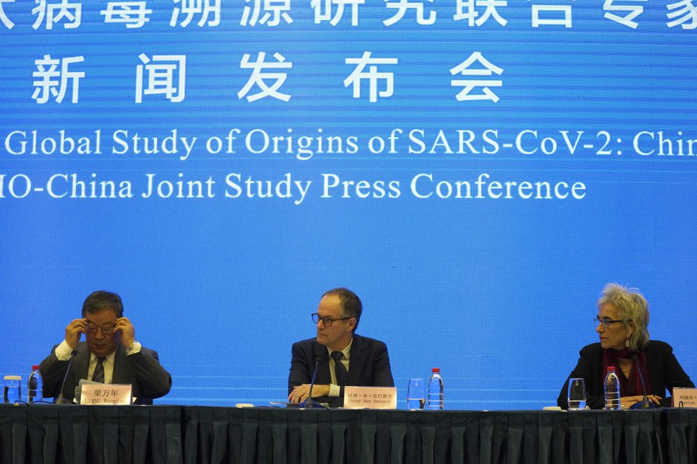 WHO team: concludes: Coronavirus unlikely to have leaked from China lab; likely to have jumped to humans from an animal
