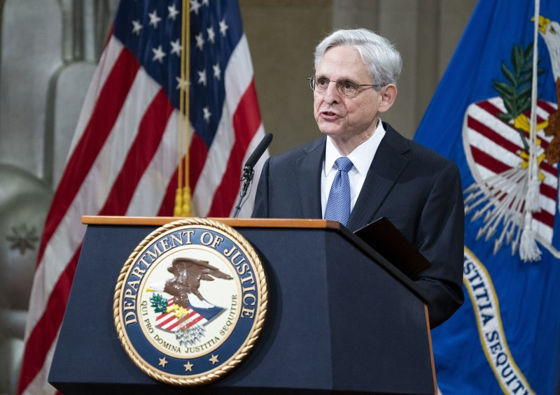 Newly sworn in Attorney General Merrick Garland vows return to 'normal' Justice Dept. on 1st day