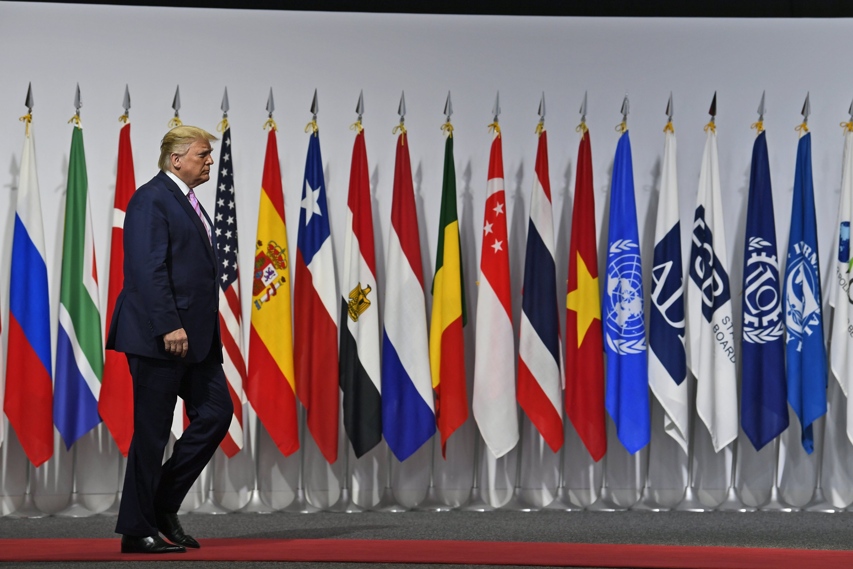 In Japan, Trump eyes 2020 race while pushing allies on trade