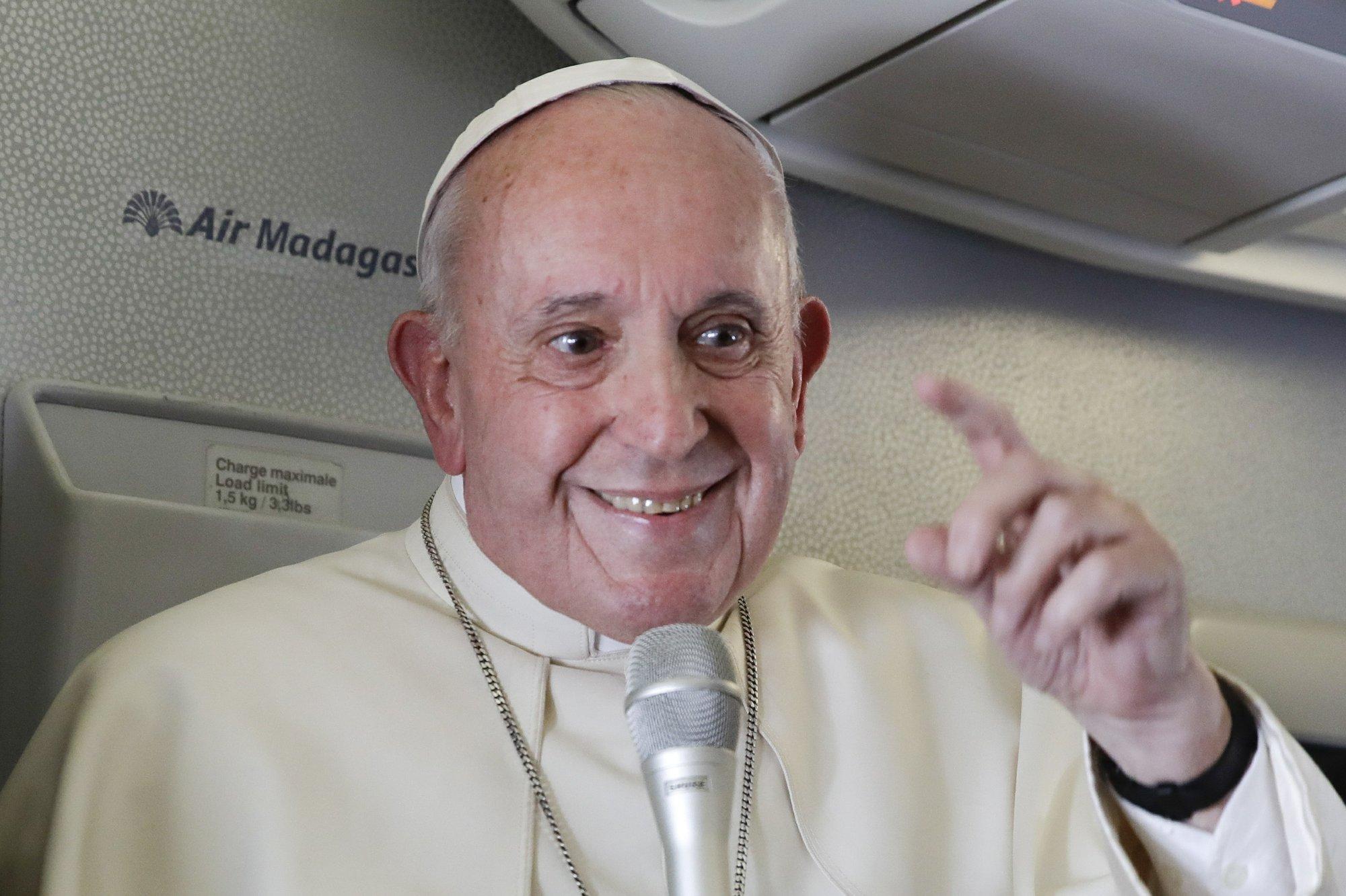 Pope says US critics use 'rigid' ideology' to mask failings