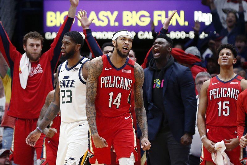 Ingram Scores 49 Pelicans End Jazz S 10 Game Winning Streak