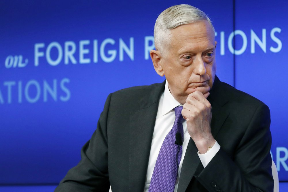 "Former defense secretary Jim Mattis severely criticizes President Trump for setting up a ""false conflict"" between the military and civilian society"