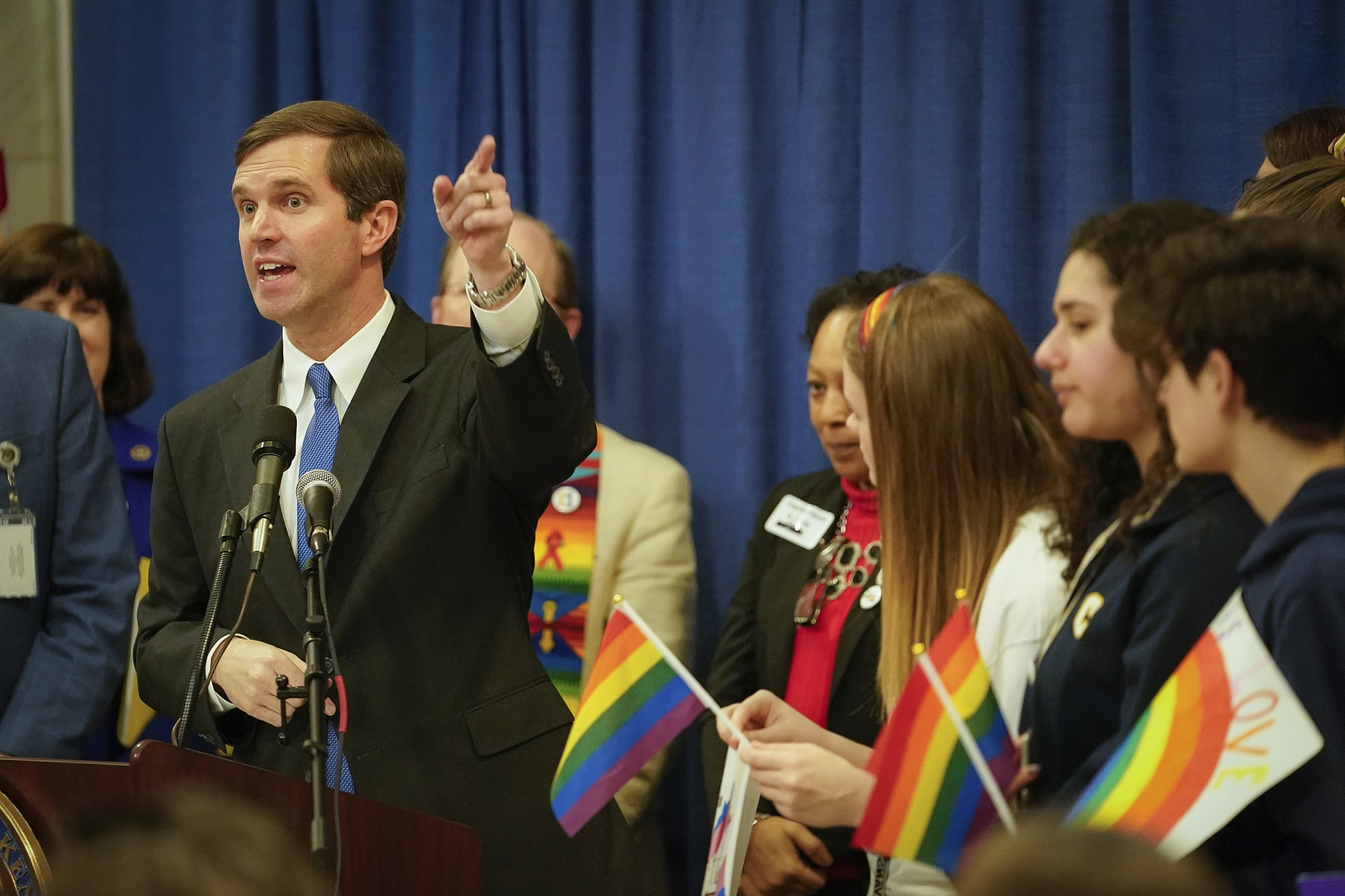 Governor makes history by attending gay rights rally
