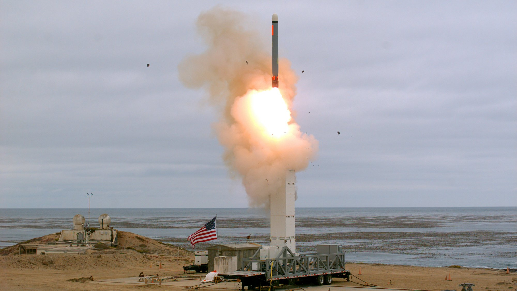 Pentagon conducts 1st test of previously banned missile