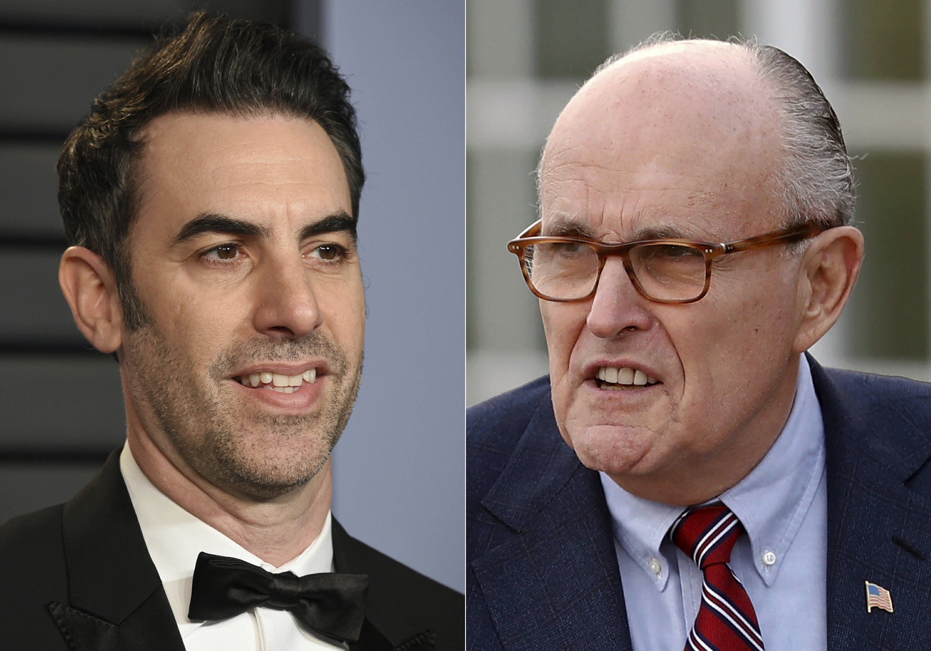 "Rudy Giuliani is shown lying on a bed in a hotel room after flirting with an actress pretending to be a TV journalist in a scene in Sacha Baron Cohen's latest mockumentary, a sequel to his hit ""Borat"" film. Giuliani had no immediate comment."