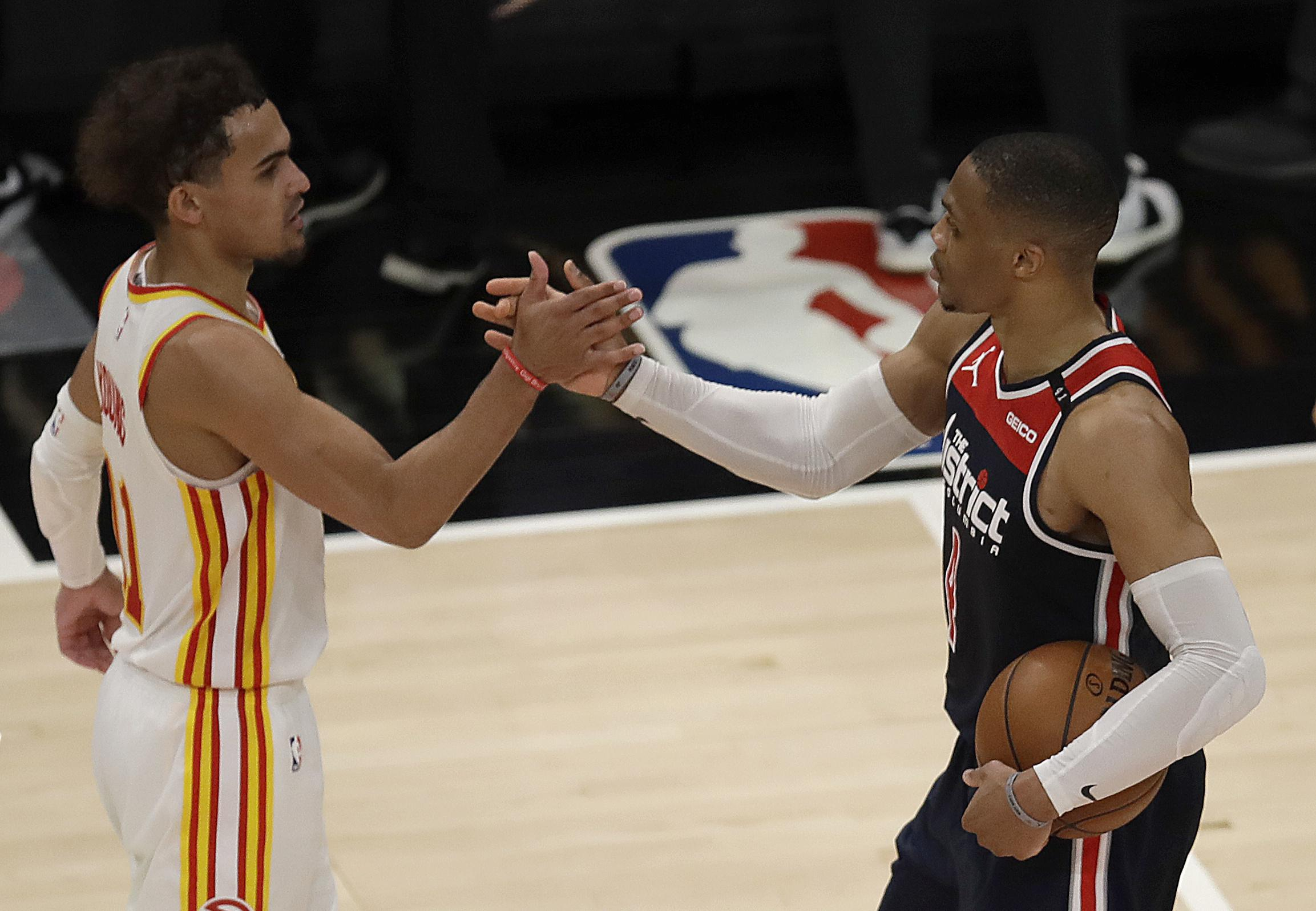 Westbrook breaks Robertson's record as Wizards fall to Hawks