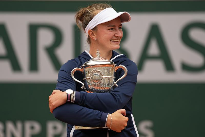 Unseeded Czech Barbora Krejcikova Wins French Open Women's Title, First Grand Slam