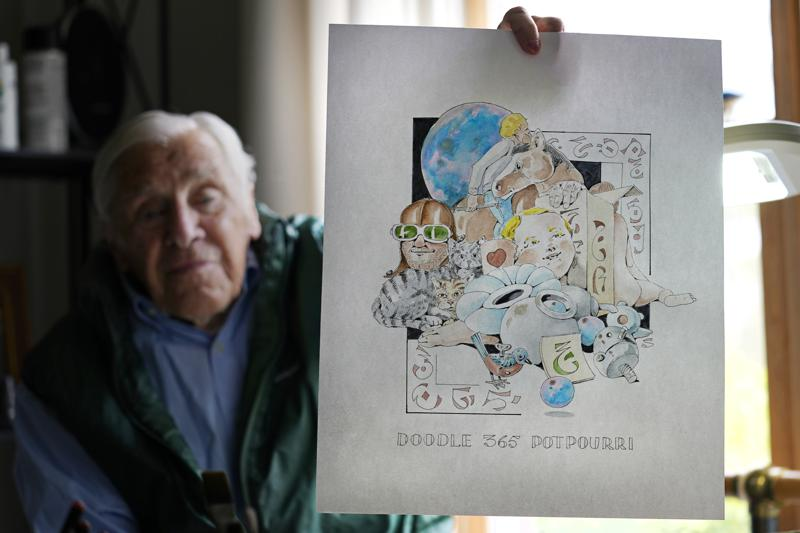 Seaman, 88, has been drawing since he was a boy, and at age 60