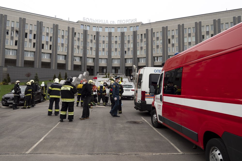 Fires in intensive care units of two Russian hospitals for coronavirus patients kills a total of six people