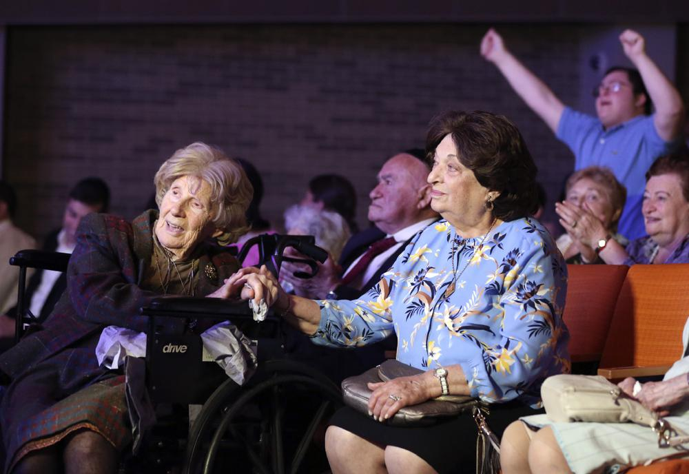 Holocaust Survivors Gather Together at Concert Held in Their Honor