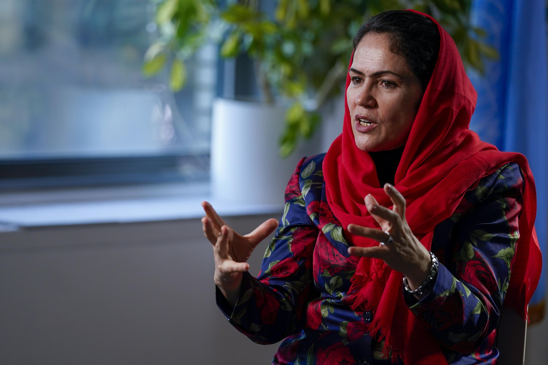 From exile, female former Afghan leader keeps fighting
