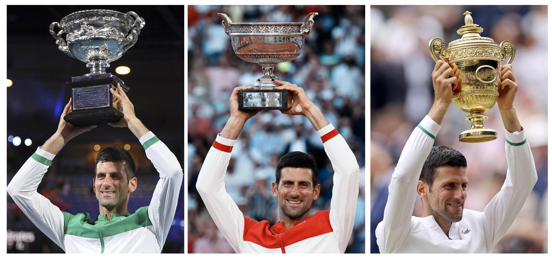A look at each of Novak Djokovic's 2021 Grand Slam matches - Associated Press