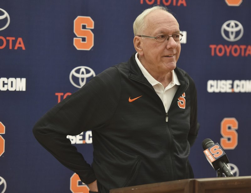 Coach Jim Boeheim of Syracuse tests positive for coronavirus