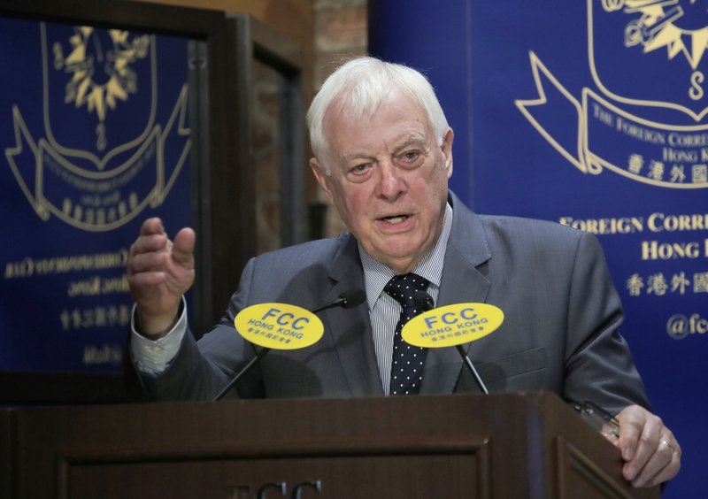 Chris Patten in interview says China betrayed Hong Kong