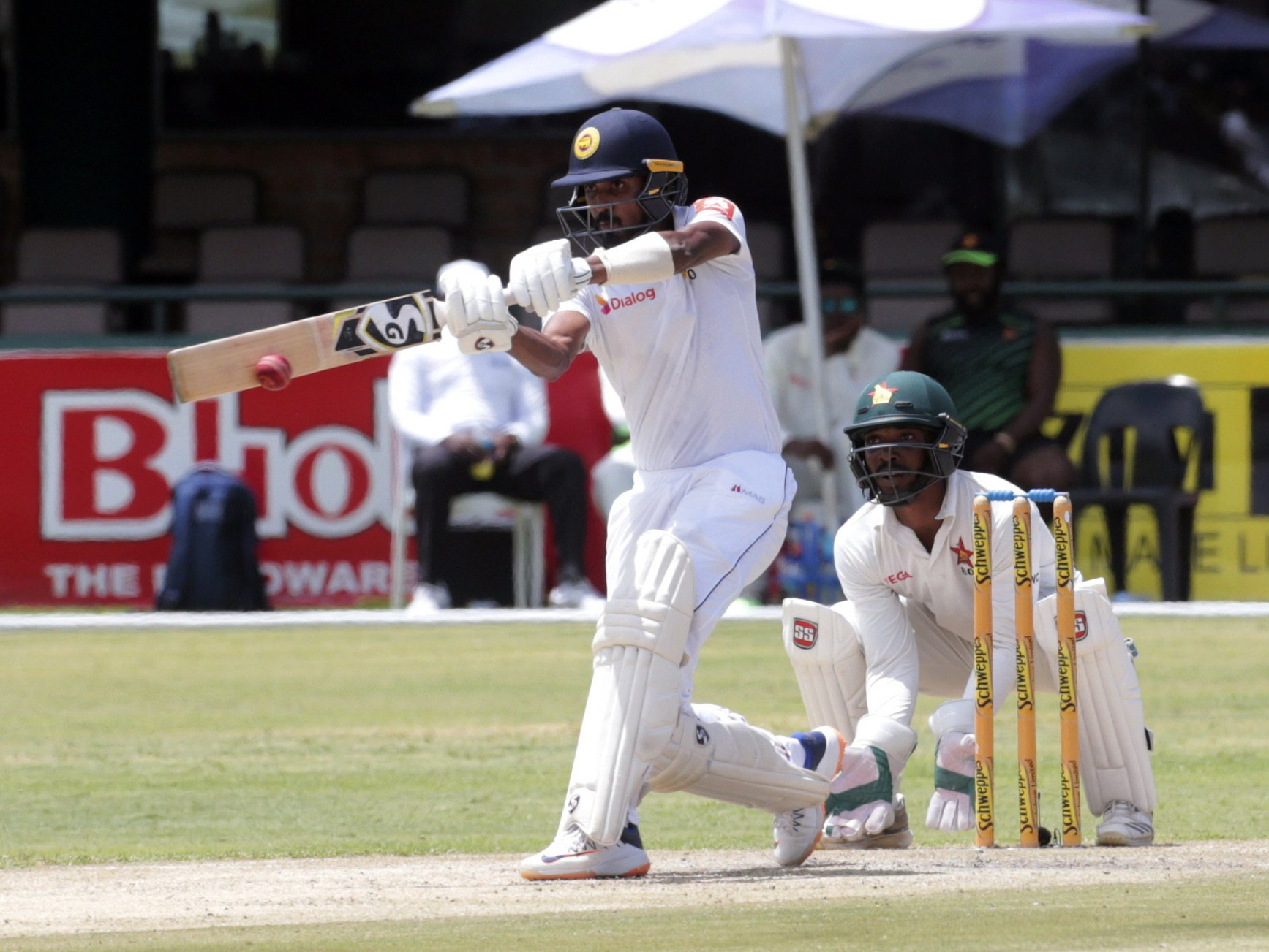 Sri Lanka 122-2 in reply to Zimbabwe's 406 in 2nd test