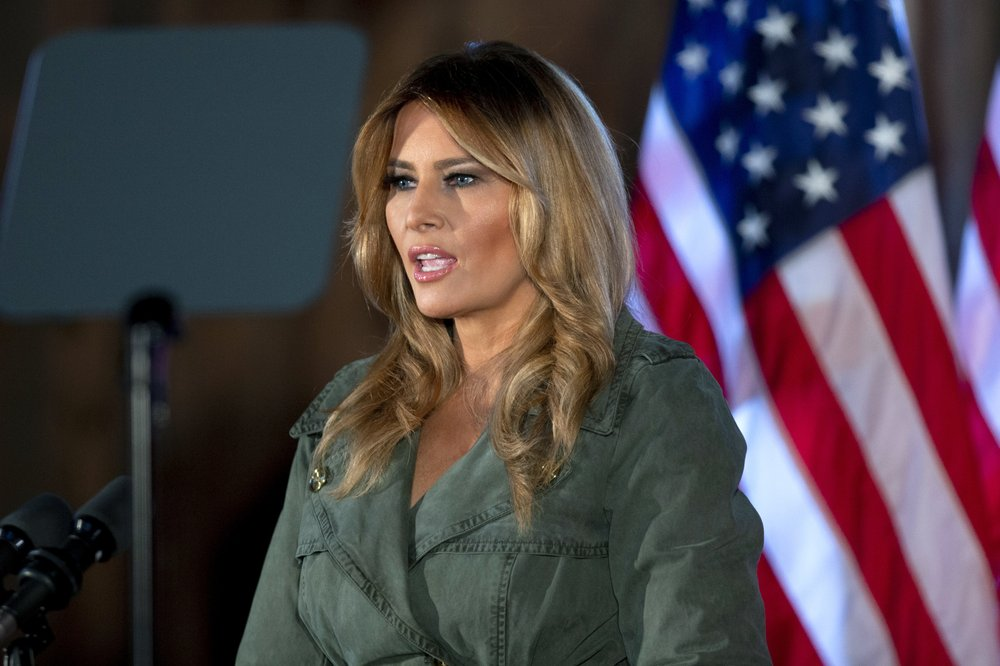 Melania Trump stands with husband, slams Biden, Dems in first solo campaign stop