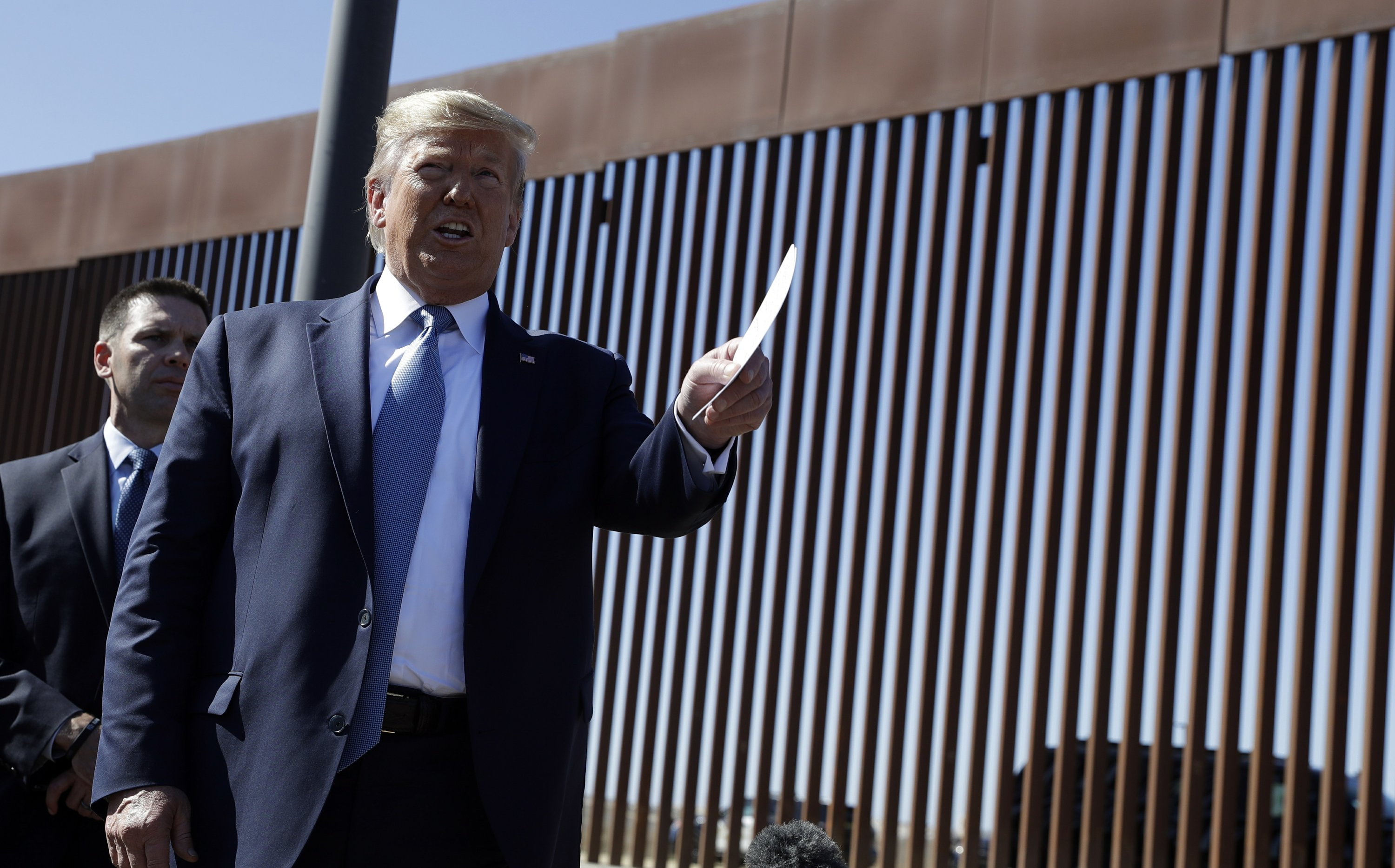 Trump calls new border wall a 'world-class security system'