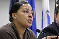 In this June 26, 2018, file photo, then-Suffolk County District Attorney Democratic candidate Rachael Rollins in Boston. Rollins, now Suffolk County District Attorney, said recently that she will urge the Supreme Judicial Court to follow Washington State and rule that those youth offenders must get a special sentencing hearing to consider their age before punishments can be handed down, especially in life without parole sentences. (AP Photo/Steven Senne, File)