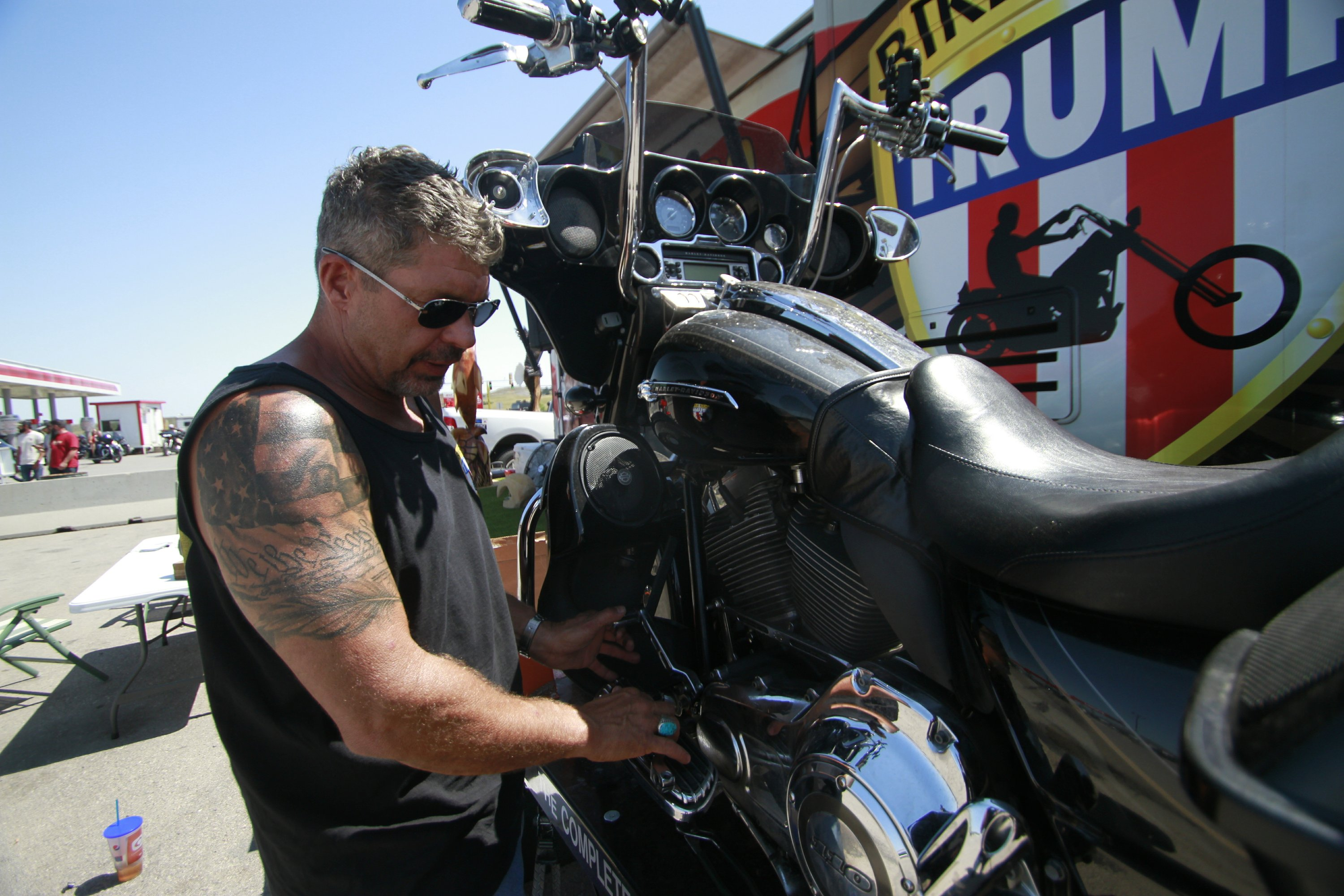 At Sturgis Trump Supporters Look To Turn Bikers Into Voters