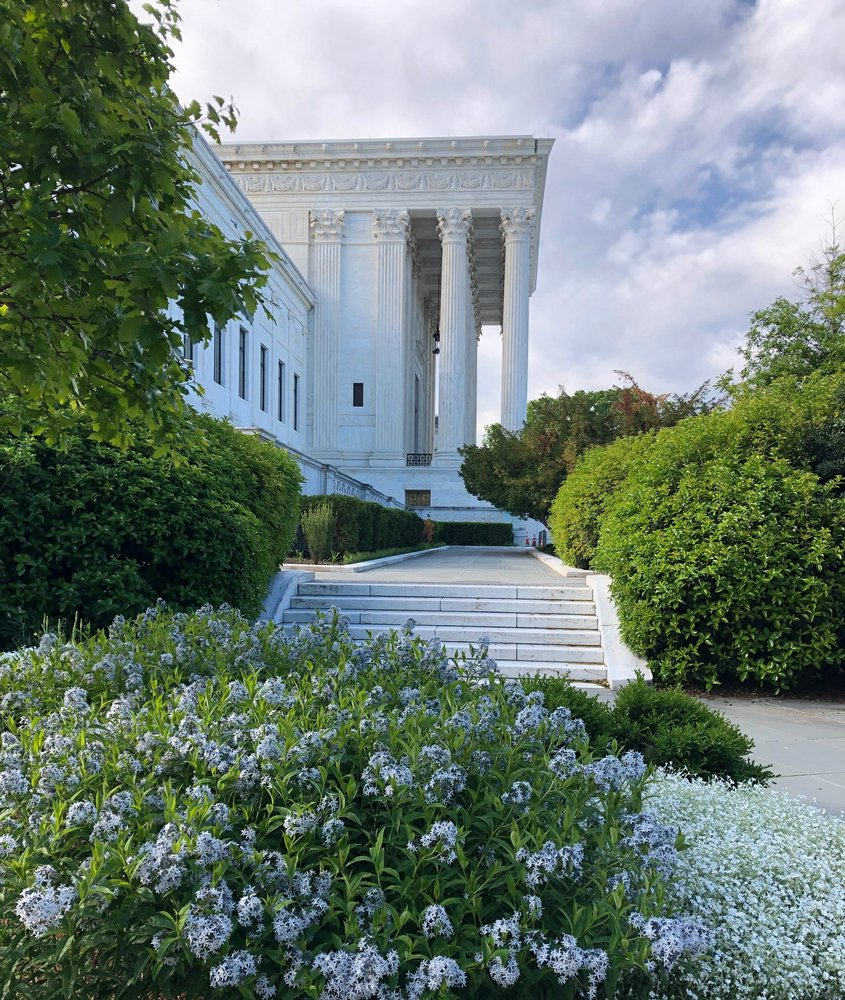 The Supreme Court justices hear their last scheduled cases by phone on Wednesday
