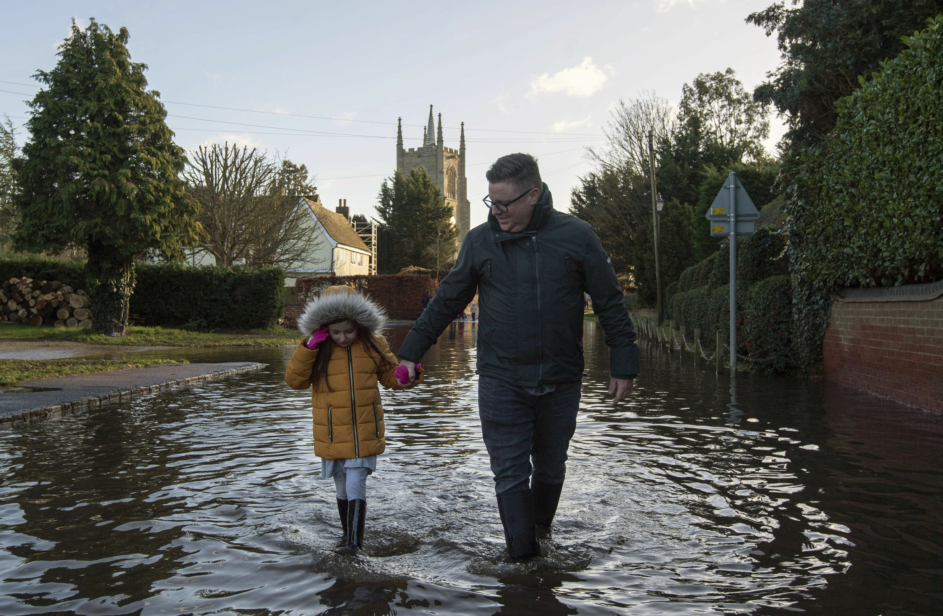 A hurricane force winds up to 106 mph hitting parts of Britain