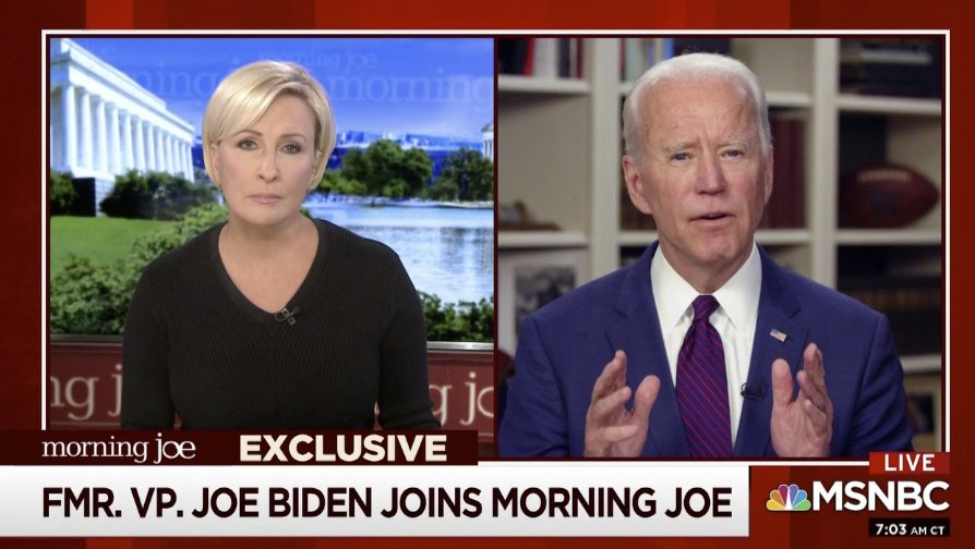 """I'm saying unequivocally, it never, never happened,"" Biden said in an interview on MSNBC's ""Morning Joe"" regarding sexual allegations against him by Tara Reade"