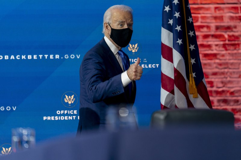 "Joe Biden to call for 100 days of mask-wearing our ""patriotic duty"" his first day of inauguration"