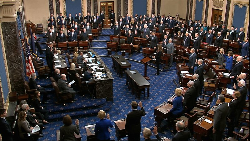 Trump's Impeachment: Chief Justice, Senators Sworn In 2