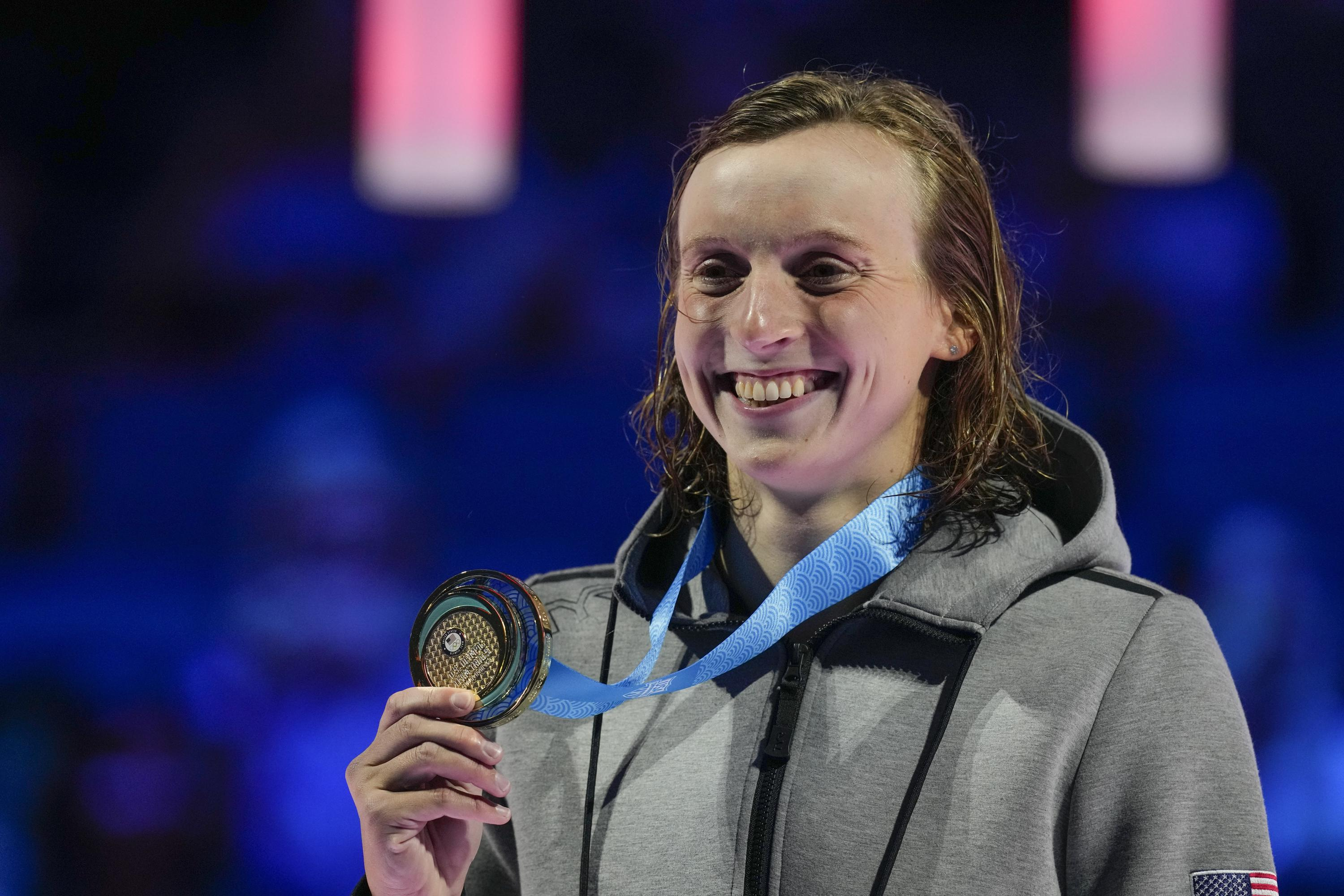 Need for speed: Ledecky wins 400 but slower than expected - Associated Press