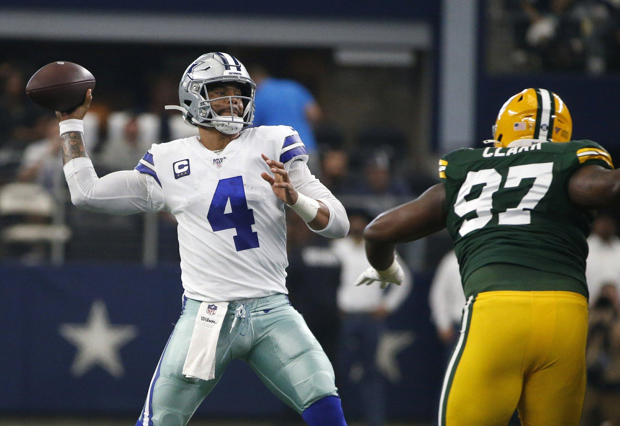 Cowboys' Prescott stays upbeat amid uptick in interceptions