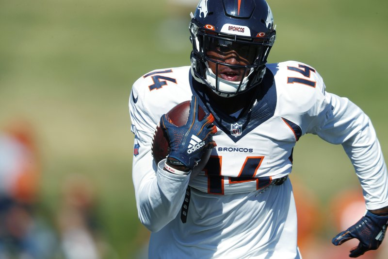 timeless design 2f388 d11df Receivers Sanders, Sutton scuffle at Broncos practice