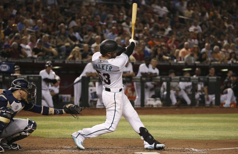 Diamondbacks Hit Natural Cycle In 10 7 Win Over Brewers