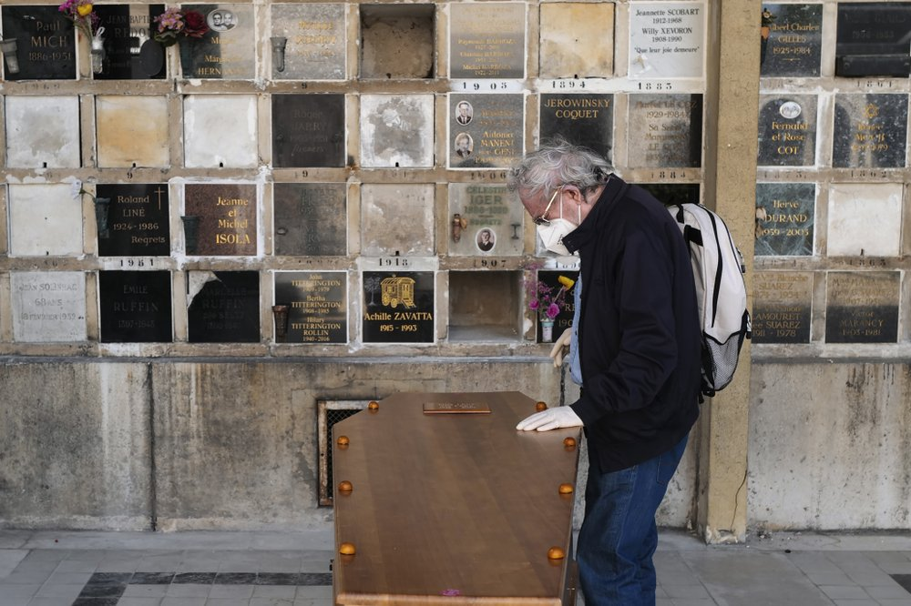Paris undertaker Franck Vasseur is concerned about those whose lives were snuffed out by the virus: when will they be mourned? how will they be celebrated?
