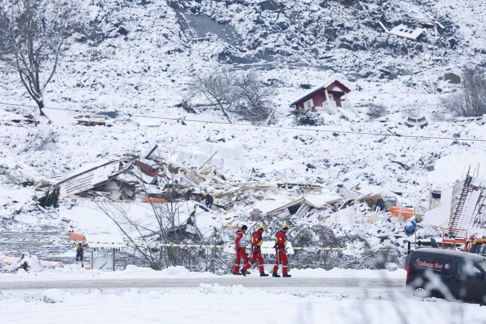Body #3 found 4 days after landslide in Norway; 7 still missing