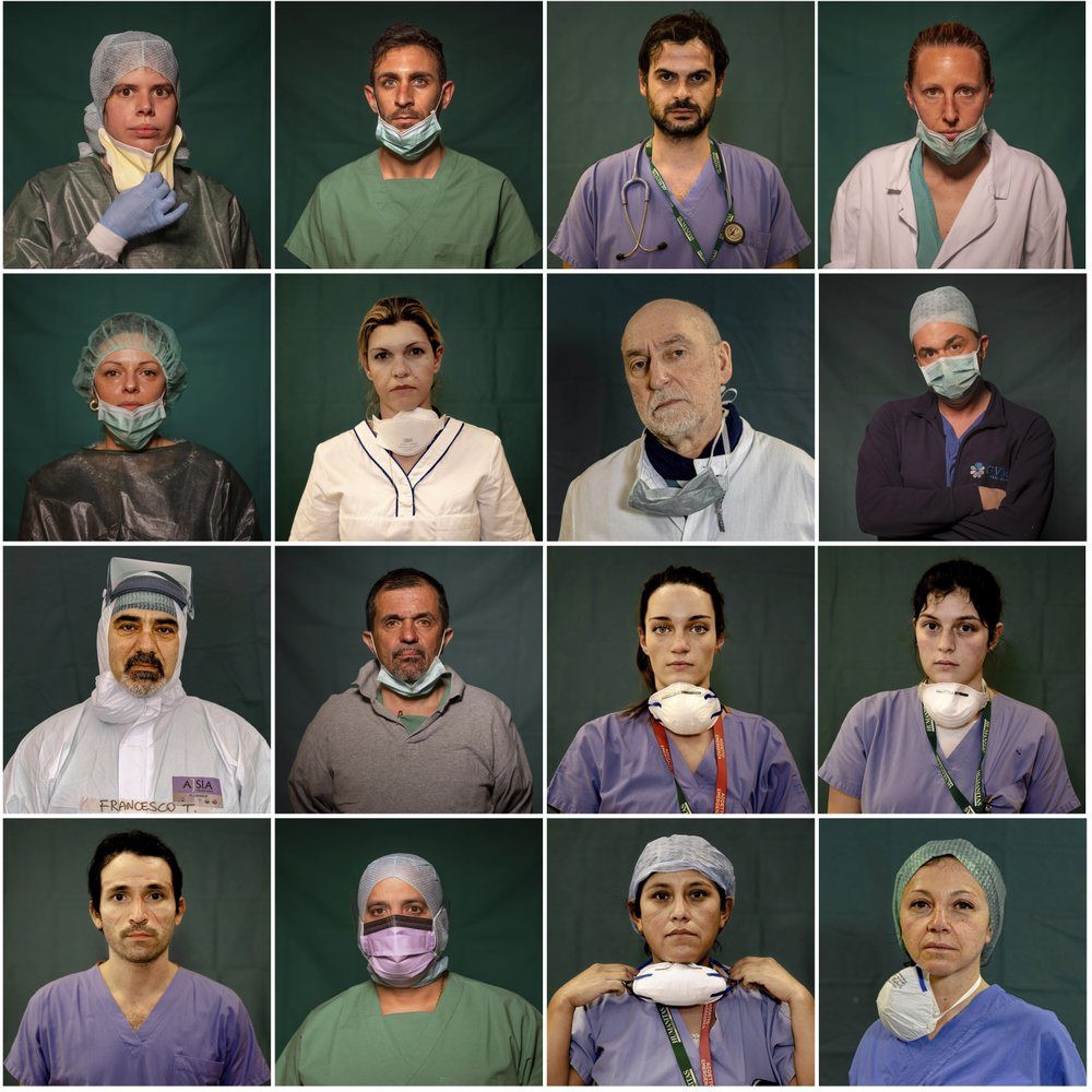 Tribute to Italy's front-line medical heroes