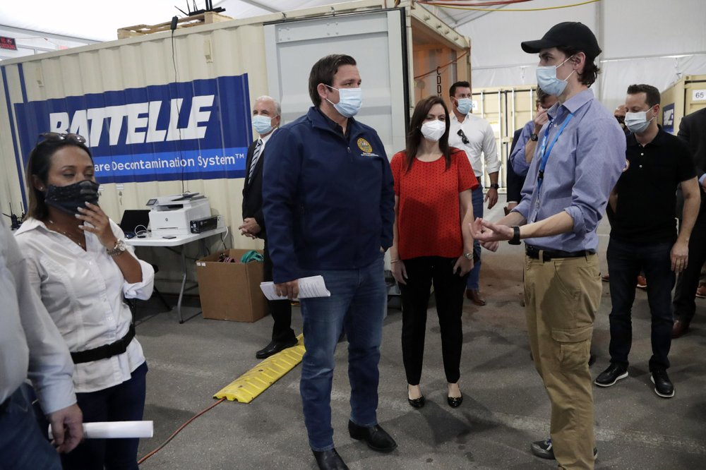 "Frustrated and disappointed, Frustrated by scarce supplies and a chaotic marketplace amid the coronavirus outbreak, some U.S. governors are seeking to bolster their home-state production of vital medical and protective equipment to ensure a reliable long-term source for state stockpiles.  The efforts come as states have been competing against each other, the federal government, hospitals, emergency responders and even other countries to get items such as N95 masks, gloves, medical gowns and hand sanitizer — often paying higher-than-usual prices because of the high demand.  Before the coronavirus pandemic, the U.S. got much of its medical supplies from China. But China limited exports earlier this year amid its own fight against the virus, which began there. When the federal stockpile ran short, states that had only minimal supplies were left scrambling to try to buy needed equipment.  ""We always hear about overseas — it's cheaper to do it in China, it's cheaper to do it in other countries,"" Missouri Gov. Mike Parson told The Associated Press. ""But one thing we've learned about this whole deal is we need to be dependent on ourselves. … If we can do it here in Missouri, I think it would be well-worth the extra money.""  Governors in Florida, Indiana and Massachusetts — all, like Parson, Republicans — made similar statements this week, as states start to shift from triaging current needs to planning for a potential second wave of the coronavirus or some unknown future disease. While numerous U.S. companies have shifted production lines temporarily to make needed supplies, some states are looking for a long-term commitment.  The efforts align with a common campaign theme of Republican President Donald Trump, who has railed against American companies that moved jobs overseas. Trump has particularly accused China of unfair trade practices.  Florida Gov. Ron DeSantis, one of Trump's closest allies, said at a press conference that one of the biggest problems the state faced when trying to obtain personal protective equipment is that much of it was manufactured in China and is slow to arrive.  ""All this stuff should be made in the United States and not in China. We don't want our health destiny resting in the hands of a communist dictatorship,"" DeSantis said. ""We would certainly welcome any of the manufacturing of the masks, the PPE kits, whatever you are doing. Come to Florida.""  The Federal Emergency Management Agency said in a statement to the AP that it ""always encourages strengthening local capacity before requesting national assistance."" If states can get personal protective equipment through their own producers or donations, they may not need to request as much from the federal government, FEMA said.  To highlight the need for more local manufacturing, Massachusetts Gov. Charlie Baker toured a plant that has been working with his administration to adjust its textile production lines to make isolation gowns for health care workers. Though U.S. labor costs remain higher than in many foreign countries, he said the in-state production ultimately could be more affordable.  ""The cost of getting a product from here to any place in Massachusetts is profoundly cheap,"" Baker said at the Merrow Manufacturing plant in Fall River, Massachusetts. ""But the cost right now of getting that kind of a product from anywhere else in the world to the U.S. and then to Massachusetts? Very high.""  An AP review of more than 20 states last month found that before the coronavirus outbreak, many had only a modest supply of N95 masks, gowns, gloves and other medical equipment that, in some cases, were well past their expiration dates. The insufficient stockpiles stemmed from a variety of factors — a decline in public health funding, an assumption that more supplies could be quickly obtained when needed and a belief that the federal government could come to the rescue with its Strategic National Stockpile.  But the federal stockpile also proved insufficient, and states rapidly depleted their reserves.  Parson said he wants Missouri to build up a 30- to-60-day supply of personal protective equipment, which he said could help spur demand for new in-state manufacturers.  Ohio Gov. Mike DeWine, a Republican, announced this week that 19 local manufacturers will produce up to 1 million face shields over the next five weeks to add to the Ohio Department of Health stockpile.  When Honeywell announced plans last month to start making N95 face masks at a Phoenix facility, Republican Gov. Doug Ducey quickly announced that more than 6 million of those masks would go to the Arizona Department of Health Services over the next year to distribute to local health and safety agencies. The Arizona facility, when paired with another new Honeywell production site in Rhode Island, is expected to make about 20 million N95 masks a month.  Indiana Gov. Eric Holcomb said the coronavirus crisis provides ""a huge opportunity"" to build a supply chain for personal protective equipment in Indiana that not only could fulfill the state's needs but also be sold elsewhere.  ""This is a state (where) we make things; we always have,"" Holcomb said. ""This is a time that allows us to move into this field like maybe no other time.""  ___ are taking matters into their own hands and aim to boost production of medical supplies"