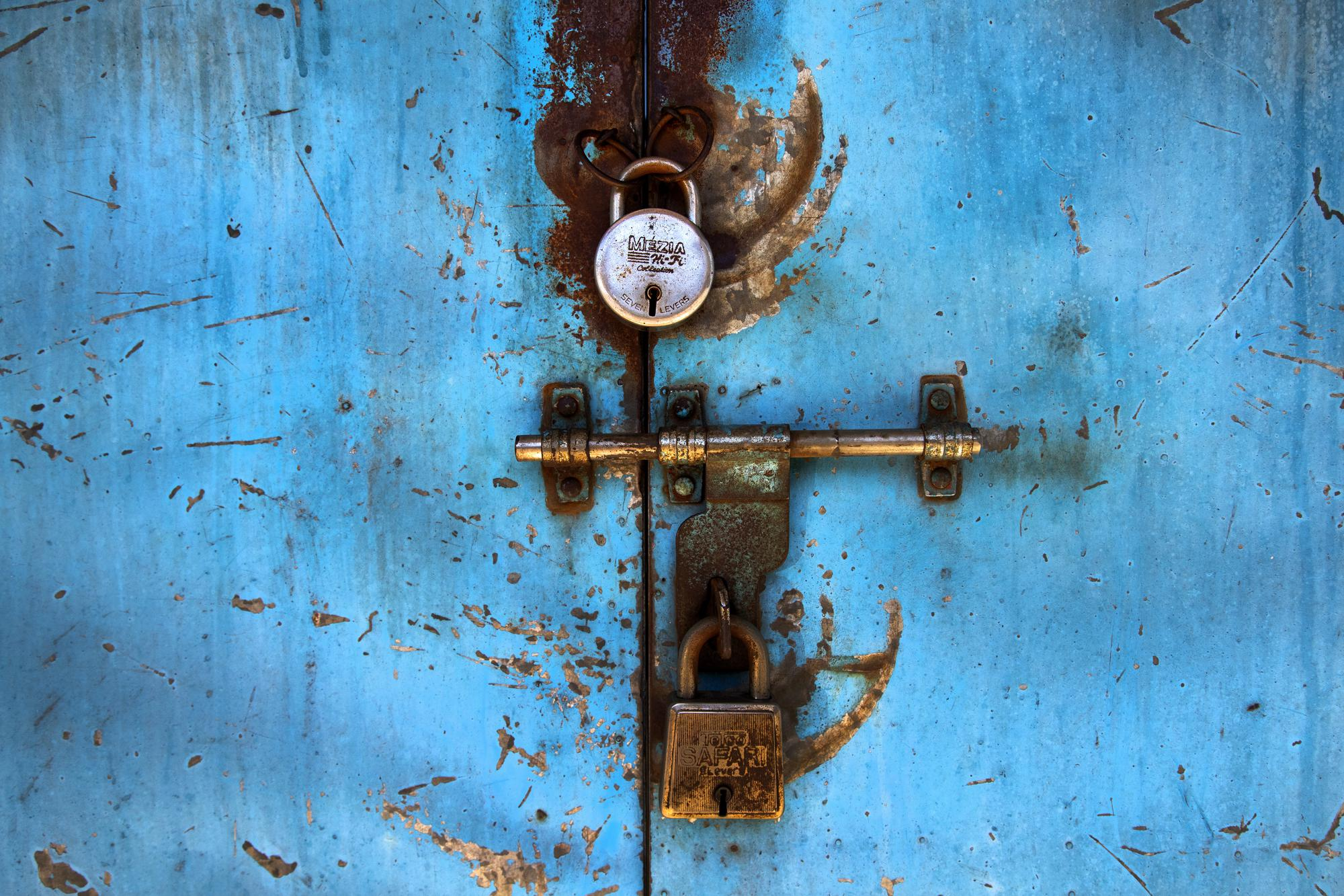 A shop is seen locked at a market area in Gauhati, India on June 18, 2021. Rows of locked shops confront bargain-hunters for most of the day in Fancy Bazar, a nearly 200-year-old market that offered cheap prices until the COVID-19 pandemic hit Gauhati, the biggest city in India's remote northeast. (AP Photo/Anupam Nath)